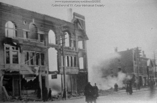 Oxford Hotel Fire Skowhegan 1908