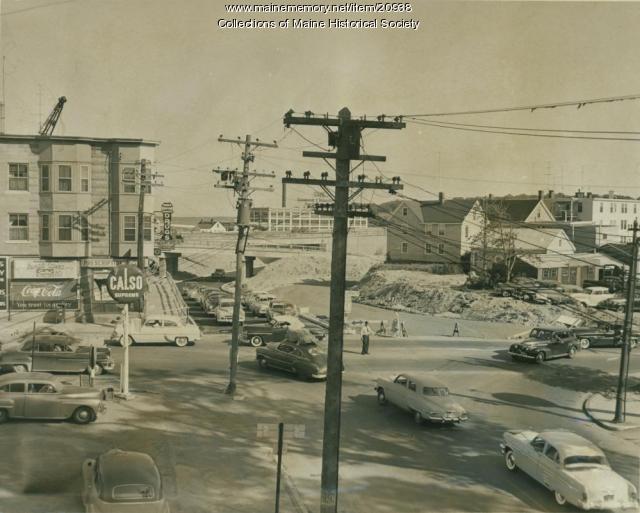Washington And Veranda Streets Portland 1954 Maine Memory Network