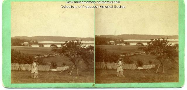 Mill Cove and High Head, Harpswell, ca. 1880