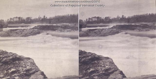Topsham Falls, ca. 1880