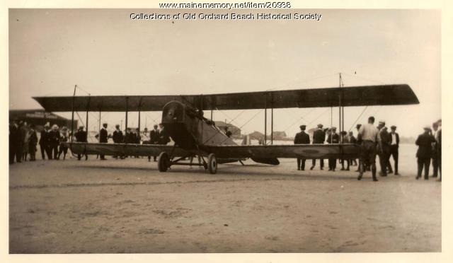 Royal Canadian Air Force plane, Old Orchard Beach, 1926