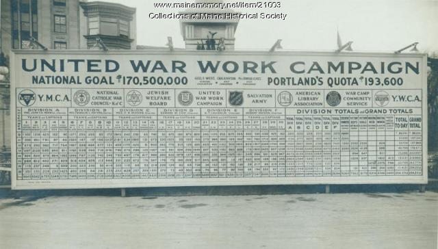United War Work Campaign, Portland, ca. 1918