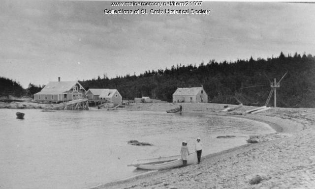 Cross Island Beach, Machiasport, ca. 1900