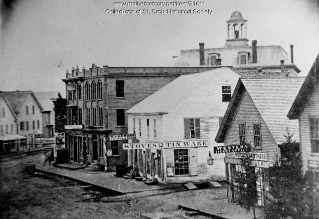 Early Main Street, Calais, ca. 1868