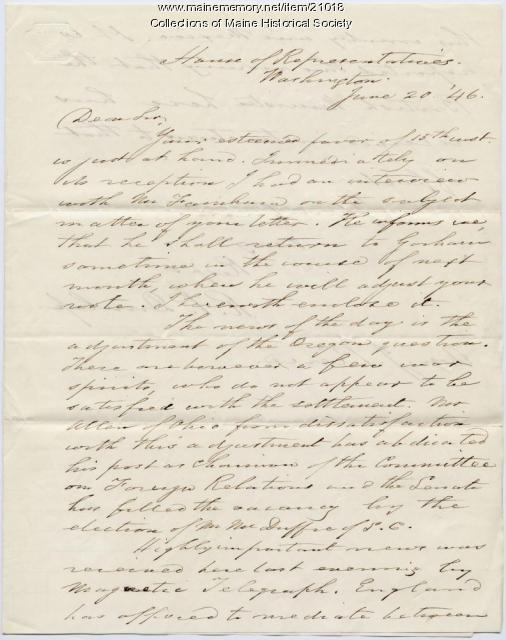 R.P. Dunlap to Josiah Pierce, 1846