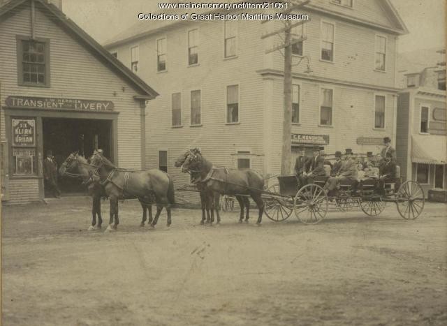 Northeast Harbor Main Street, ca. 1905