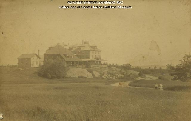 Rock End Hotel Area, Northeast Harbor, ca. 1886