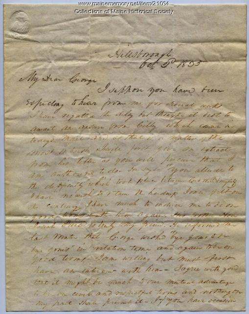 Franklin Pierce on Jonathan Cilley, 1835