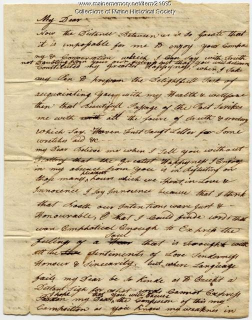 Josiah Pierce to Phebe Thompson, 1785