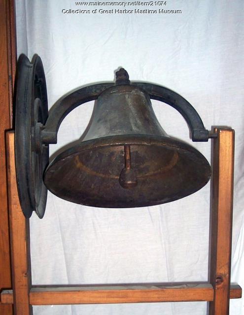 Northeast Harbor school bell, ca. 1881