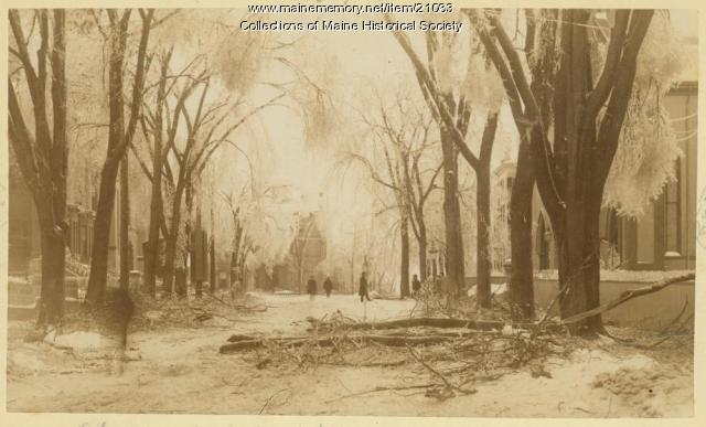 High and Spring streets, Portland, 1886