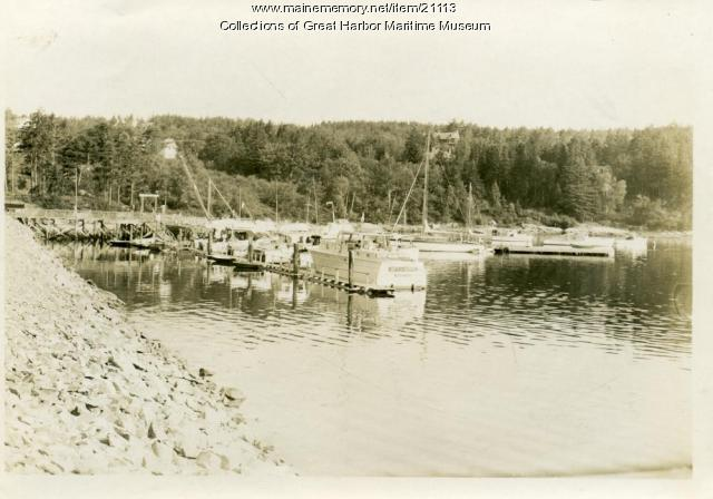 Boats at Northeast Harbor, ca. 1955