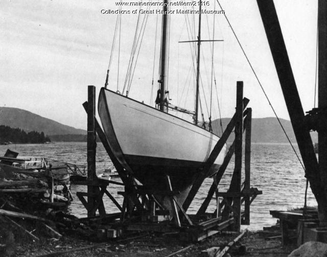 Navy training yawl launch, Mount Desert, ca. 1942