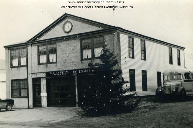 Northeast Harbor Firehouse, ca. 1950