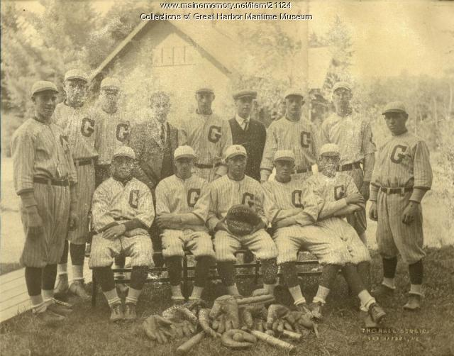 Gilman High School baseball team, Northeast Harbor, 1922