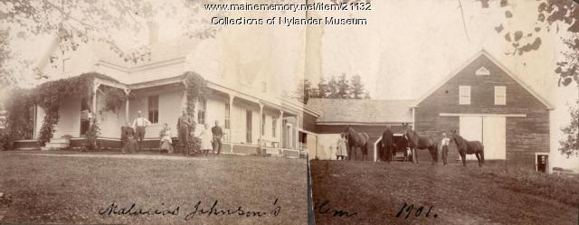 Malacias Johnson farm, Woodland, 1901