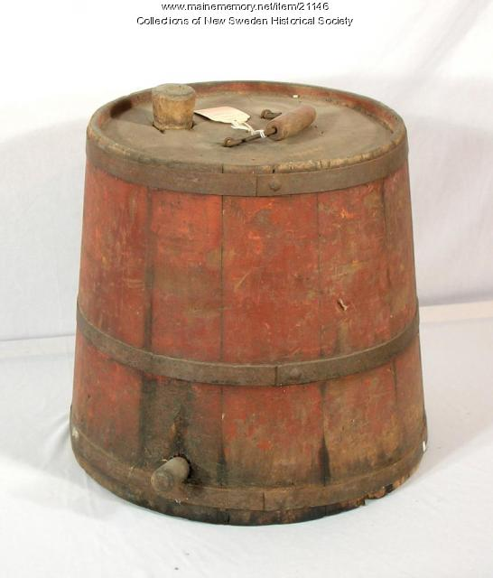 Linseed oil container