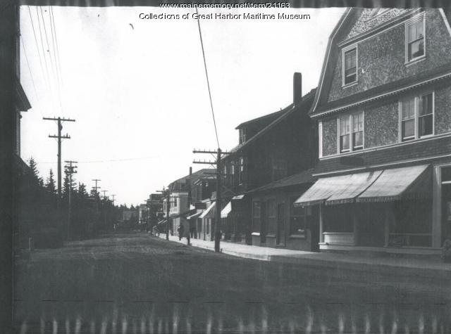 Main Street, Northeast Harbor, ca. 1908