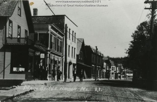 Lower Main Street, Northeast Habor, ca. 1905