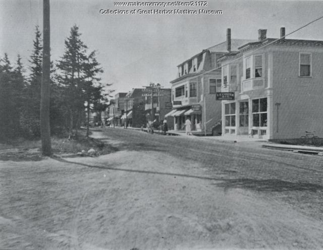 Main Street Northeast Harbor, ca. 1913