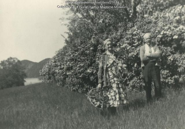 Mr. and Mrs. Thomas McIntire, Mount Desert, ca. 1940