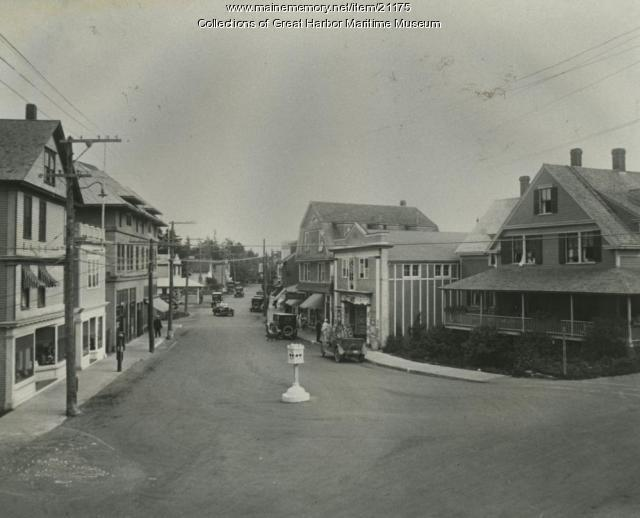 Main Street Northeast Harbor, ca. 1920
