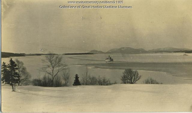 Steamer Samoset Breaking Ice at Sullivan Harbor