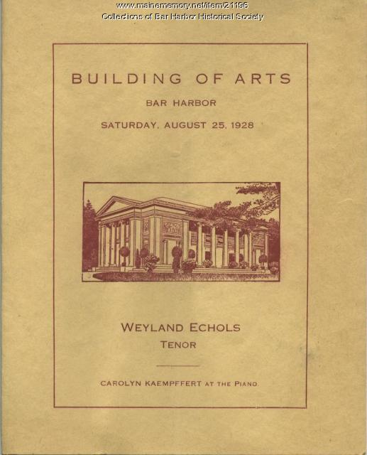 Building of Arts Program, 1928