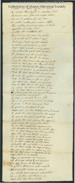 Josiah Pierce poem, 1786