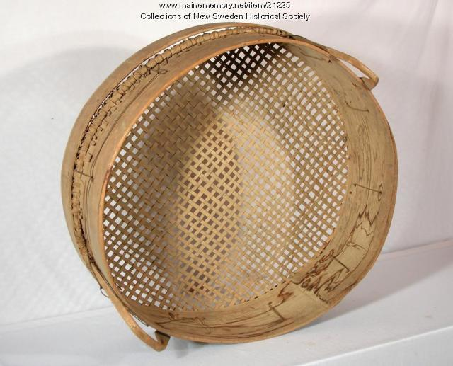 Handmade grain sifter, New Sweden, ca. 1880