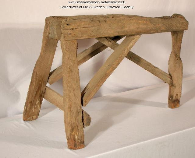 Wood stool, New Sweden, ca. 1900