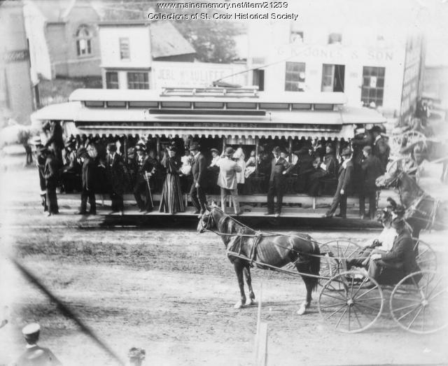Calais Street Railway open car, Calais, ca. 1900