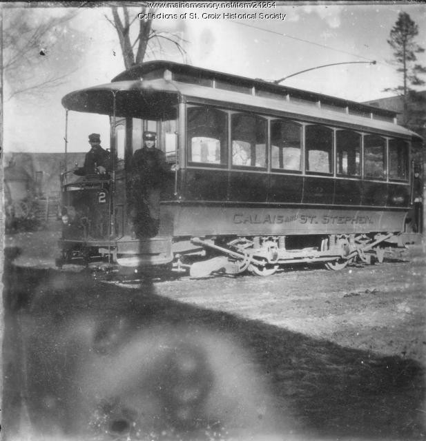 Calais Street Railway Car #2, Calais, ca. 1900