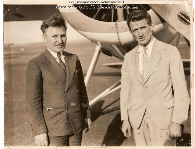 Wiley Post and Harold Getty, Old Orchard Beach, August 15, 1931