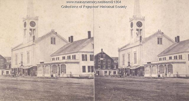 Universalist Church, Brunswick, ca. 1880