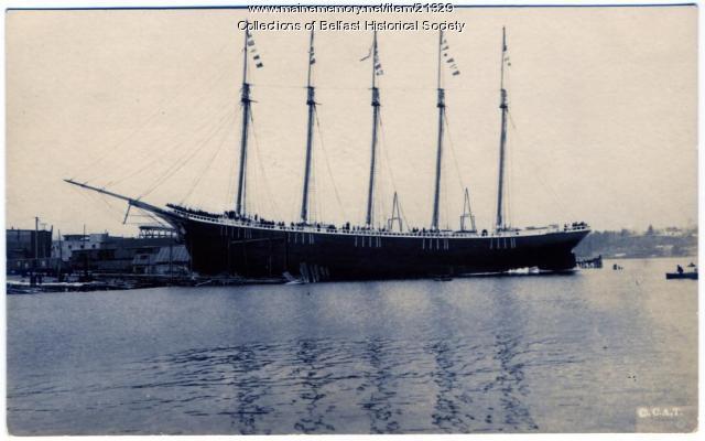 Launching of Jennie Flood Kreger, Belfast, 1919