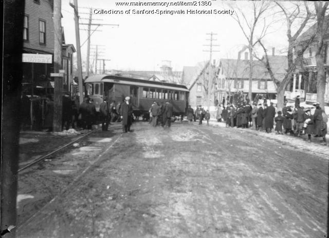 Trolley Accident on Washington Street, Sanford, ca. 1910