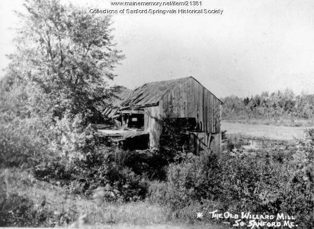 Old Willard Mill, Sanford, ca. 1910