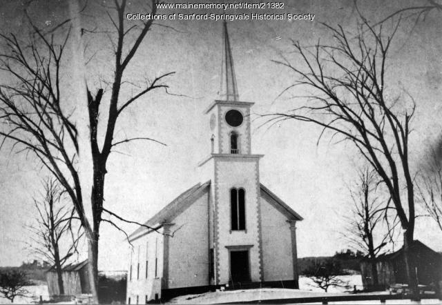 New North Parish Congregationalist Church, Main Street, Sanford, ca. 1879