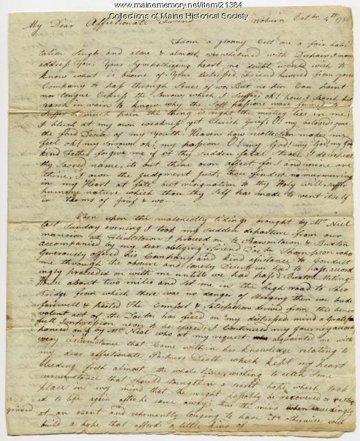 Loammi Baldwin to Josiah Pierce, 1786