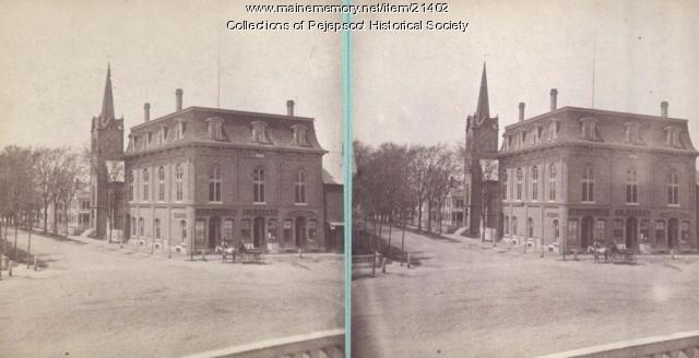 Maine Street, Lemont Block, Brunswick,  ca. 1880
