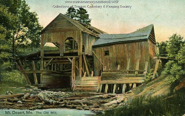 Old Mill on Mt. Desert Island, ca. 1890