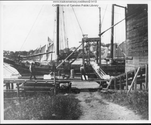 Loading Ice Cakes, Camden, 1906
