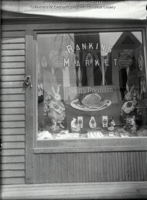 Rankin's Market, Main Street, Sanford, ca. 1910