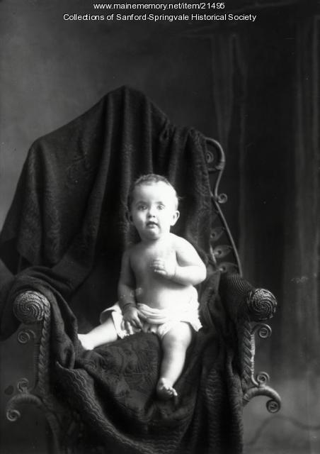 Baby in Philpot's Studio, ca. 1905