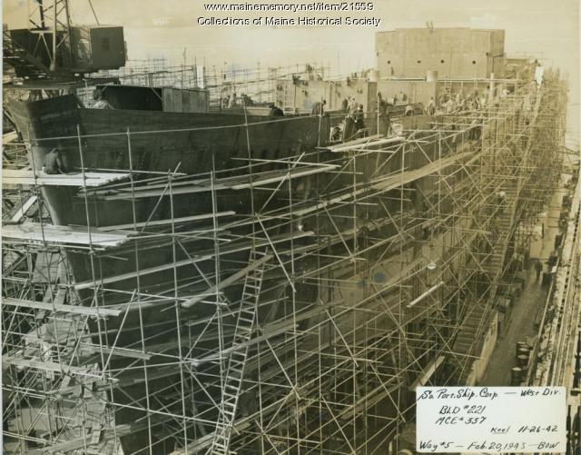Bow, South Portland Shipbuilding Corp., 1943