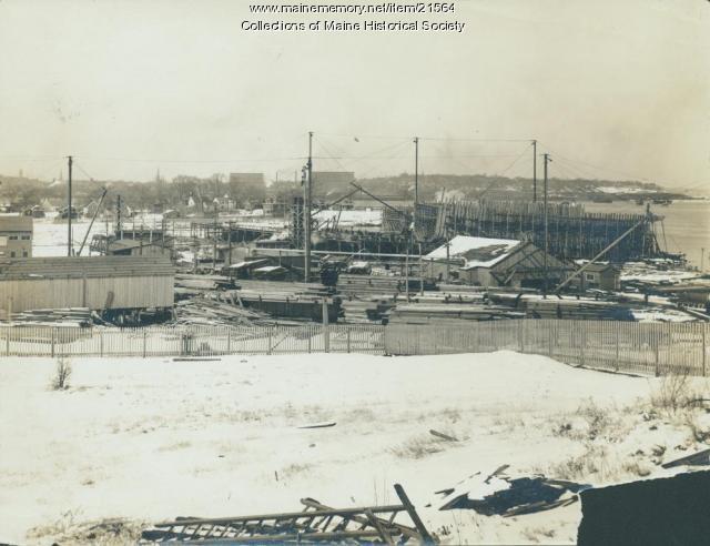 Cumberland Shipbuilding, South Portland, ca. 1918