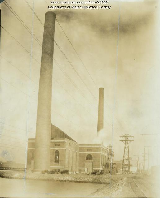 Cape Steam Power Generating Station, South Portland, ca. 1935