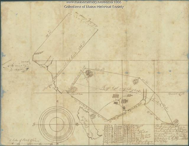 Map of North Yarmouth, 1687