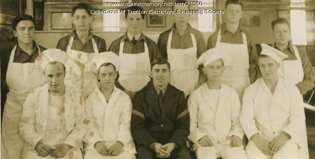 CCC Mess Hall workers, Bar Harbor, 1940